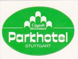 GERMANY STUTTGART PARK HOTEL VINTAGE LUGGAGE LABEL