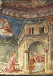 Italy, Spoleto, Cathedral, Annunciation by Filippo Lippi