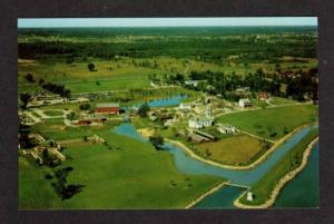ON Aerial View of UPPER CANADA VILLAGE ONTARIO Postcard