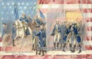 George Washington, 1st President USA Political 1908 writing on back