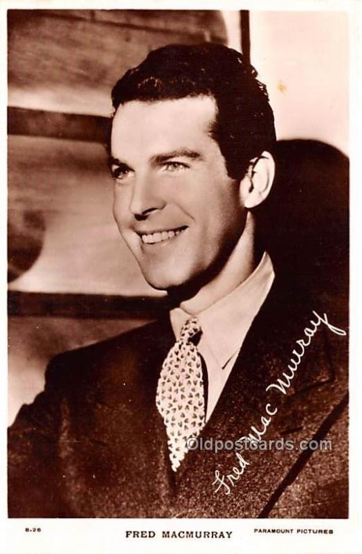 Fred MacMurray Movie Star Actor Actress Film Star Postcard, Old Vintage Antiq...