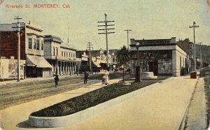 MONTEREY, CA Alvarado Street Scene 1909 Vintage Postcard