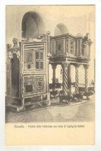 Ravello, Salerno, Campania, Italy, 00-10s Pulpito della Cattedrale con testa ...