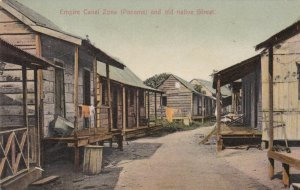 Panama Canal Zone Empire Old Native Street Scene 1913 sk1498a