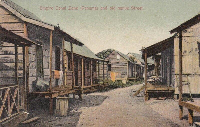 Panama Canal Zone Empire Old Native Street Scene 1913 sk1498a