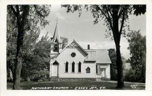 Essex Junction VT~Methodist Church~Ornate Belltower & Vergeboard~Jary RPPC 1920s