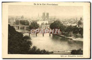Old Postcard Paris Ile de la Cite Vert Galant