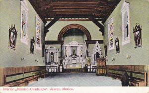 Interior Mission Guadalupe Juarez Mexico 1908