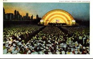 Illinois Chicago Grant Park Concert Night Scene