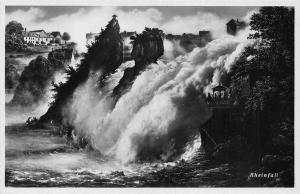 Switzerland Rheinfall Waterfall Cascade Postcard