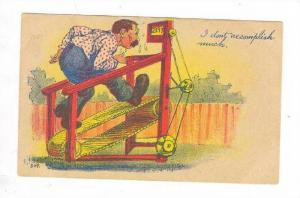 Man on treadmill, I'don't accomplish much, PU-1908