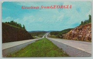 Georgia Interstate Highway Greetings~Standard Chrome Postcard