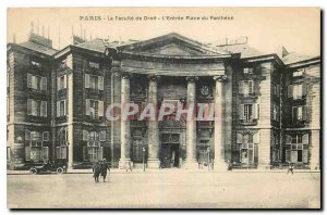 Old Postcard The Paris Faculty of Law of Entry Place du Pantheon