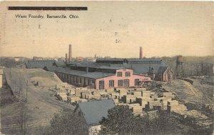 G17/ Barnesville Belmont Co Ohio Postcard c1910 Watts Mining Car Factory 23