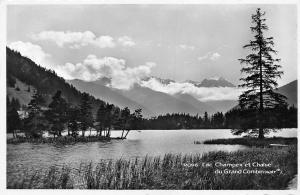 Switzerland Lac Champex et Chaine du Grand Combin (4317 m)