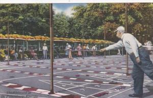Florida St Petersburg Playing Shuffleboard 1955