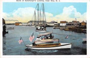 Cape May New Jersey Schellenger's Landing Boats in Harbor Postcard JA4741943