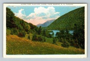 Cape Breton Nova Scotia Canada - Scenic Harvard Lakes, Vintage Postcard
