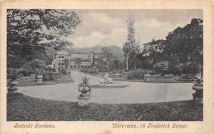 B.W.I. Trinidad, Botanic Gardens, Waterman, 15 Frederick Street, Fountain