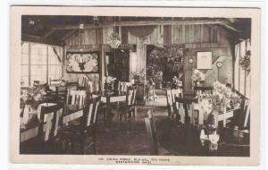 Dining Porch Old Mill Tea House Westminster MA RPPC 1937 postcard