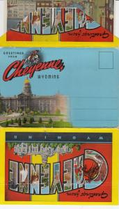 Folder Postcard , CHEYENNE, Wyoming, 30-40s