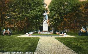 PA - Athens. Soldiers' Monument