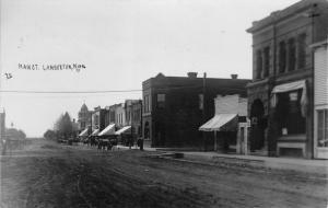 Lamberton Minnesota~Main Street~State Bank~Saloon~Caps & Hats~Buggies~1911 RPPC
