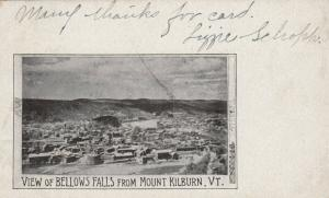 BELLOWS FALLS , Vermont, 1905 ; View from Mount Kilburn