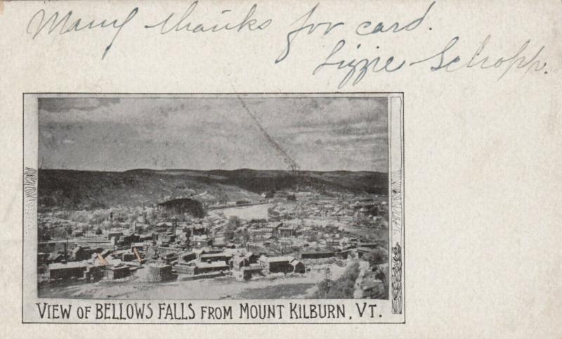 BELLOWS FALLS , Vermont, 1905 ; View from Mount Kilburn