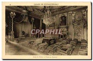 Old Postcard Palais De Fontainebleau Room Du Trone