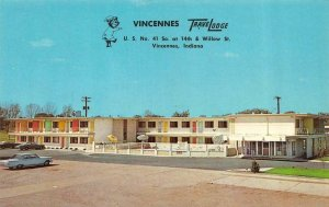 VINCENNES, Indiana IN   TRAVELODGE MOTEL~Sleepy Bear  KNOX CO  Roadside Postcard