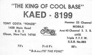 KAED8199 Olean, NY, USA QSL Writing on Back