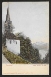 Eglise et Dent du Midi in Montreux SWITZERLAND Used c1908