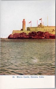 Morro Castle Havana Cuba Habana Unused Vintage Postcard D48