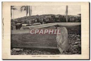 Postcard Old Bridge Gentil Gabon A park wood