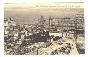 Panorama des Quais pris de N.D. de la Garde, Aerial view of BayTown,Marseille...