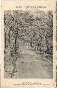 CPA PARIS 18e - Ye old Montmartre - Rue Norvins (52096)