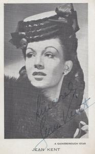 Jean Kent Vintage 1950s Printed Signed But Hand Appearance Photo