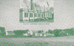 Wisconsin Fort Atkinson Hoards Dairyman Office & Plant