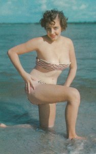 PIN-UP; Bikini girl A Cool Dip , 1950-60s