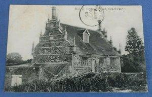 Vintage  Postcard Mill At Bourne Pond Colchester Essex Postmarked 1905  D1A