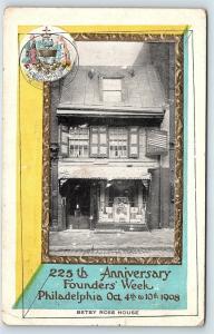 Postcard PA Philadelphia 225th Anniversary Founders Week 1908 Ross House R42