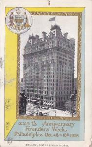 Pennsylvania Philadelphia Bellevue Stratford Hotel 225th Anniversary Founders...