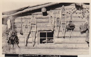 RP: Collection of Snowshoes , Cabin on Liard River, N.W.T. , Canada , 10-20s