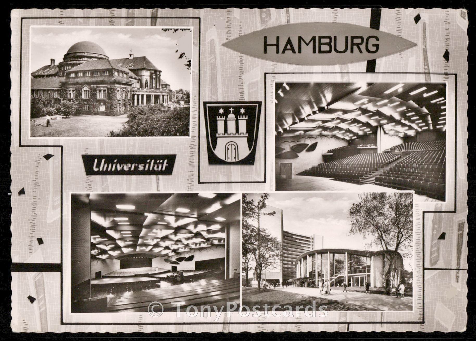Hamburg universitat hippostcard for Hamburg universitat