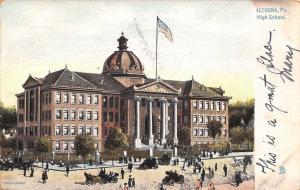 Altoona Pennsylvania~High School~Seventh Avenue @ 15th Street~1907 Postcard~TUCK
