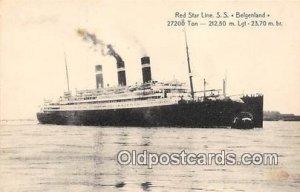 Red Star Line SS Belgenland Ship Unused