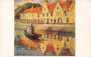 Quai de la Potterie Bruges Flori Van Acker Pinx Postcard