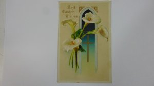 Antique 1909 Easter Wishes Postcard