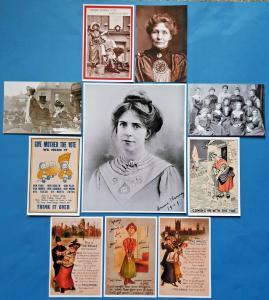 Suffragette Suffrage Womens Vote Print & Postcard Collection Set 10 Items